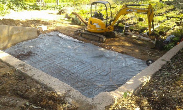 Les travaux pour la construction de la serre ont débuté