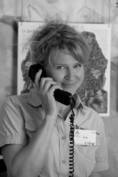 Irina GRANENKO, agent d'accueil © Domaine du Rayol, Nicolas Mouny