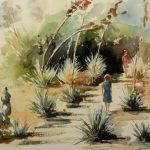 Sous la chaleur, Exposition Le Rayol à l'aquarelle