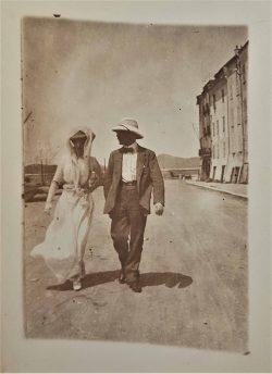 Alfred et Thérèse Courmes, St-Tropez, 15 août 1912