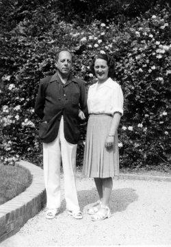 Henry et Alice Potez au Domaine du Rayol vers 1940-1945